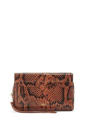 HUGO BOSS Mini Bag aus Leder mit Python-Print