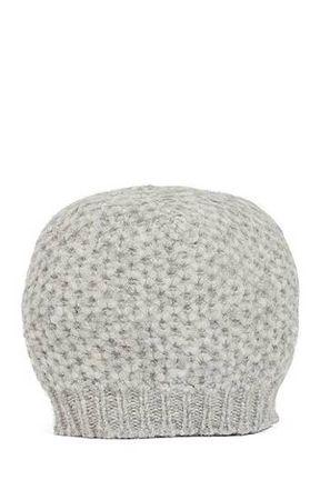 HUGO BOSS Mütze aus Alpaka-Mix mit Wolle und Wabenstruktur grau