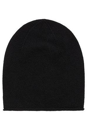 HUGO BOSS Mütze aus Schurwoll-Mix mit Yak und Kaschmir schwarz