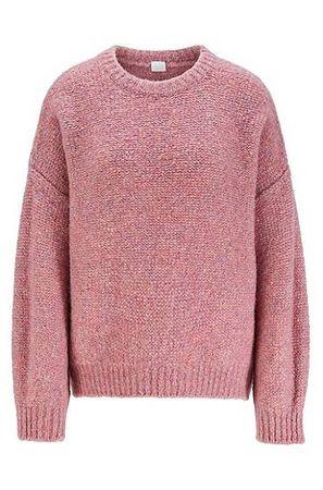 HUGO BOSS Oversized Pullover mit überschnittener Schulter rot