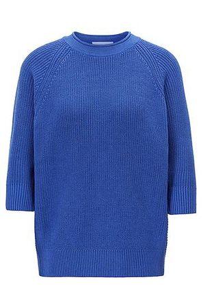 HUGO BOSS Pullover aus Baumwolle mit Raglanärmeln blau