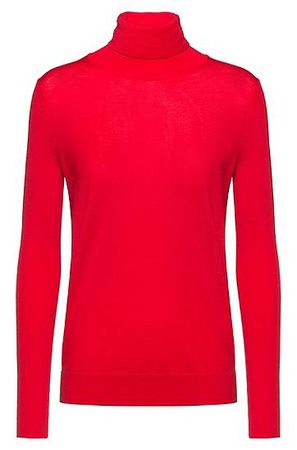 HUGO BOSS Pullover aus Merino-Wolle mit Kaschmir-Haptik pink