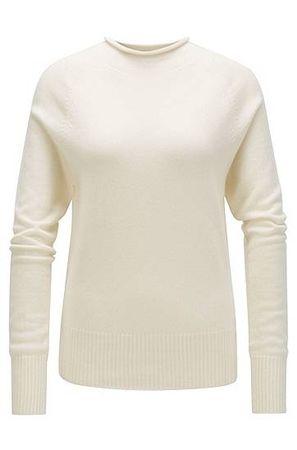 HUGO BOSS Pullover aus reinem Kaschmir mit Trichterkragen braun
