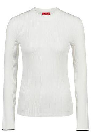 HUGO BOSS Pullover aus Ripp-Strick grau