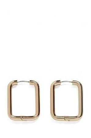 HUGO BOSS Quadratische Ohrringe aus Edelstahl in Gold-Optik