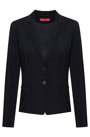HUGO BOSS Regular-Fit Blazer aus knitterfreier Stretch-Schurwolle schwarz