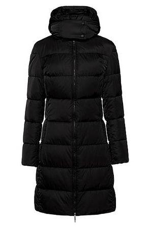 HUGO BOSS Regular-Fit Jacke aus wasserabweisendem Material-Mix schwarz