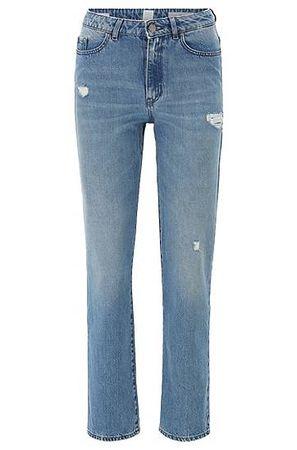 HUGO BOSS Regular-Fit Jeans aus Denim in Used-Optik grau