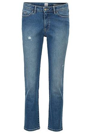 HUGO BOSS Regular-Fit Jeans aus Super-Stretch-Denim in Cropped-Länge grau