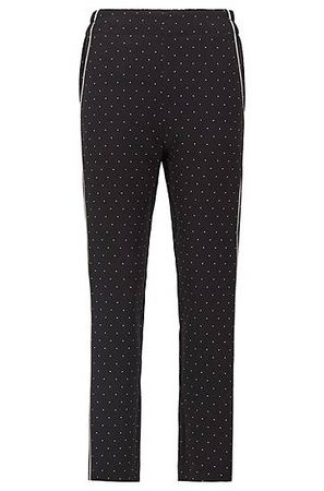 HUGO BOSS Regular-Fit Jogginghose aus geschmeidigem Krepp mit Satin-Paspeln schwarz