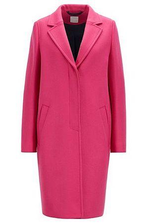 HUGO BOSS Regular-Fit Mantel aus schwerem Woll-Mix mit Kaschmir pink