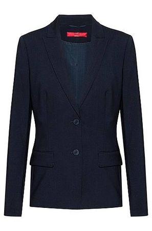 HUGO BOSS Regular-Fit Sakko aus knitterfreier Stretch-Schurwolle schwarz