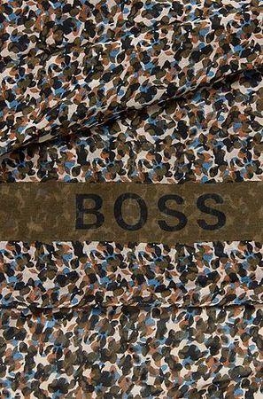 HUGO BOSS Schal aus Baumwolle und Modal mit Print der Kollektion