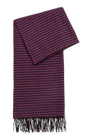 HUGO BOSS Schal aus Schurwolle mit Grafik-Muster braun