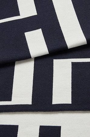 HUGO BOSS Schal aus Schurwolle mit Monogramm-Motiv