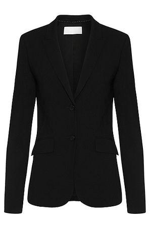 HUGO BOSS Schurwoll-Blazer mit steigendem Revers schwarz