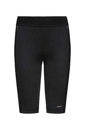 HUGO BOSS Skinny-Fit Cycling-Shorts aus Stretch-Gewebe mit Mesh-Einsätzen schwarz