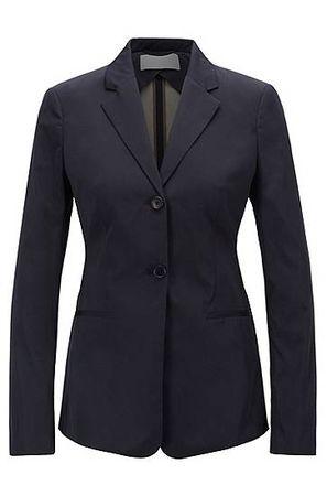 HUGO BOSS Slim-Fit Blazer aus doppelt gewebtem italienischem Taft schwarz