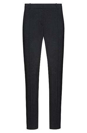 HUGO BOSS Slim-Fit Hose aus Schurwoll-Mix schwarz