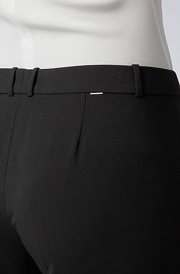 HUGO BOSS Slim-Fit Hose in Cropped-Länge schwarz
