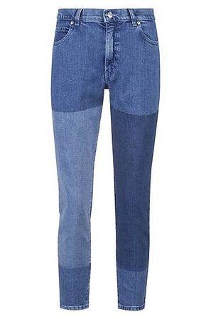 HUGO BOSS Slim-Fit Jeans in Cropped-Länge aus italienischem Stretch-Denim blau