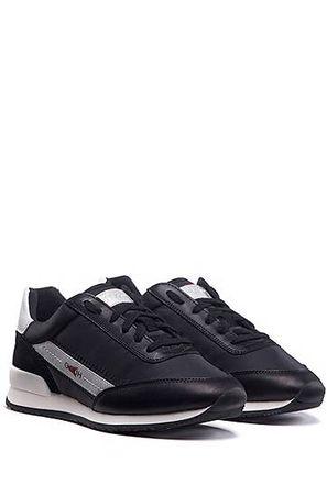 HUGO BOSS Sneakers im Laufschuh-Stil mit spiegelverkehrten Logos schwarz