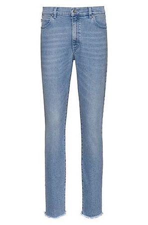 HUGO BOSS STELLA Slim-Fit Jeans aus bequemem Stretch-Denim in Cropped-Länge grau