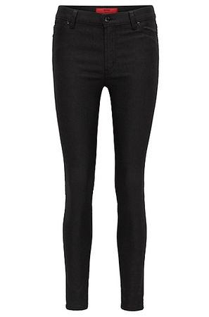 HUGO BOSS Super Skinny-Fit Jeans aus beschichtetem Denim schwarz