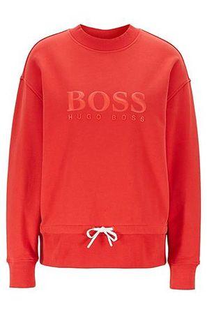 HUGO BOSS Sweatshirt aus Baumwoll-Terry mit 3D-Logo rot