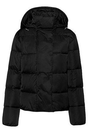 HUGO BOSS Wasserabweisende Jacke mit Kapuze schwarz