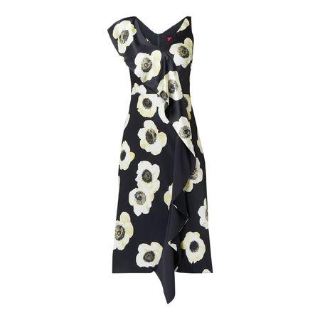 Hugo Kleid mit floralem Muster schwarz