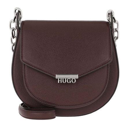 Hugo  Umhängetasche  -  Victoria Saddle Bag Open Red  - in rot  -  Umhängetasche für Damen braun