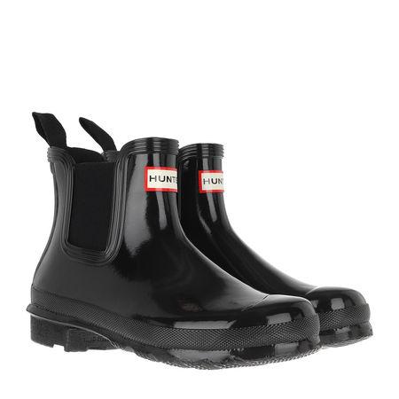 Hunter  Boots  -  Original Chelsea Gloss Boots Black  - in schwarz  -  Boots für Damen schwarz