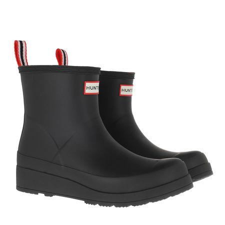 Hunter  Boots  -  Original Insulated Play Short Boots Black  - in schwarz  -  Boots für Damen grau