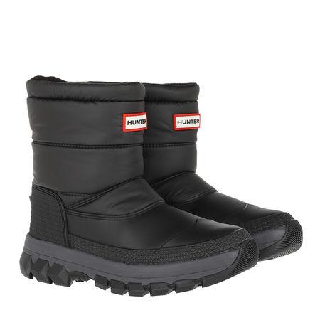 Hunter  Boots  -  Original Insulated Snow Boots Short Black  - in schwarz  -  Boots für Damen grau