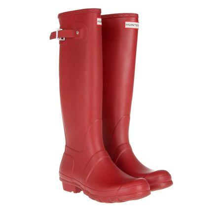 Hunter  Boots  -  Women's Original Matte Tall Rubber Boots Military Red  - in rot  -  Boots für Damen rot