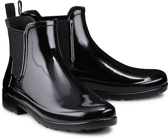 Hunter , Refined Chelsea in schwarz, Gummistiefel für Damen schwarz