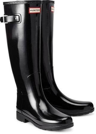 Hunter Stiefel Refined Gloss von  in schwarz schwarz
