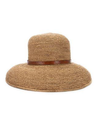 IBELIV Hut aus Bast in Hellbraun