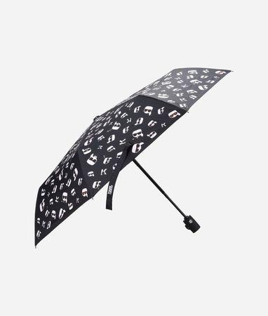 Karl Lagerfeld K/Ikonik Regenschirm mit Print weiss