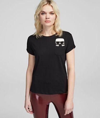 Karl Lagerfeld K/Ikonik T-Shirt mit Tasche braun