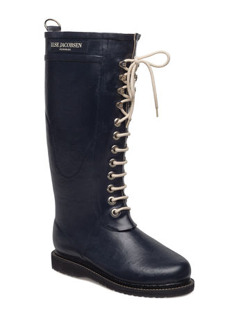 Ilse Jacobsen Rain Boot - Long, Classic With Laces schwarz