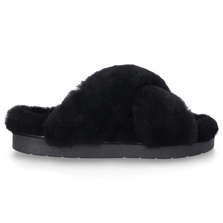 INUIKII Hausschuhe 70104-331 Lammfell schwarz schwarz