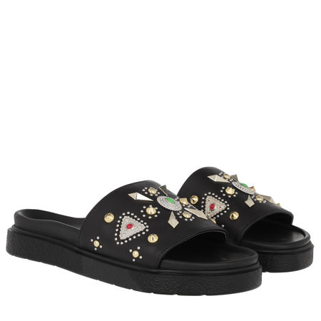 INUIKII  Schuhe  -  Dipama Studs Slipper Black  - in schwarz  -  Schuhe für Damen schwarz