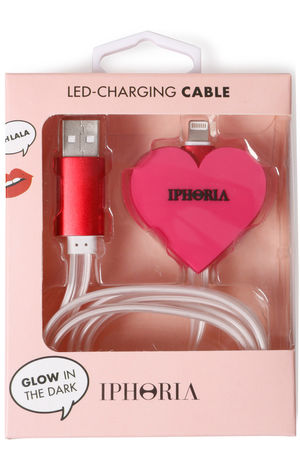 iPhoria  Design USB-Ladekabel Heart Pink Damen Farbe: pink rot