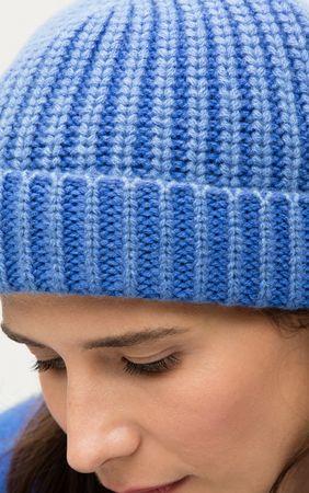 Iris von Arnim Cashmere Mütze blau