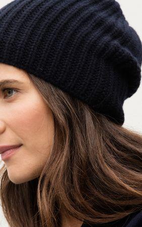 Iris von Arnim Cashmere Mütze schwarz