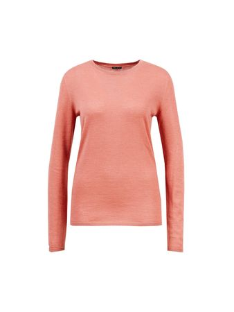 Iris von Arnim  - Cashmere-Pullover 'Ivastone' mit Rundhalsausschnitt Koralle - 100% Cashmere rot