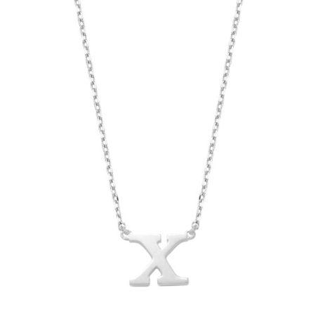 Isabel Bernard  Halskette - X Whitegold Saint Germain Chloã© 14 Karat Collier - in silber - für Damen