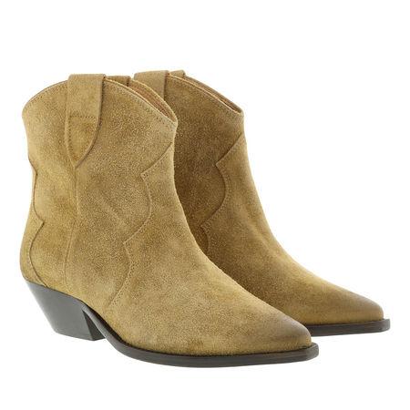 Isabel Marant  Boots  -  Boots Used Look Velvet Beige  - in beige  -  Boots für Damen gruen